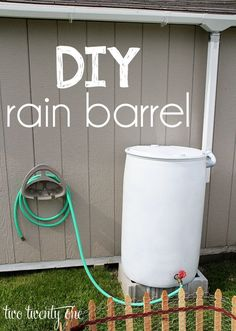 How to make your own rain barrel watering system-- easy and inexpensive!