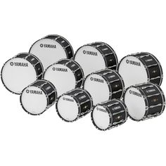 "Yamaha 24"" x 14"" 8300 Series Field-Corps Marching Bass Drum Black Forest"