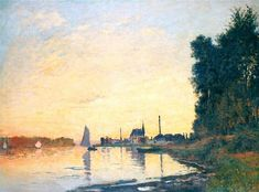 Argenteuil, Late Afternoon - Monet Claude