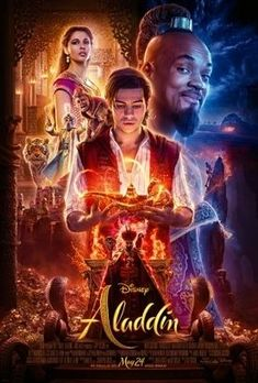 ALADDIN is a delightful cinematographic, humorous, and musical treat starring Will Smith. This Disney, live-action movie is PG-rated and is entertaining for the whole family. Most importantly, it presents themes of the importance of honesty and integrity, which outshine magical and deceptive power. Because Aladdin wants to impress the Princess Jasmine, he has the genie of the lamp turn Aladdin into a prince; however, the princess rejects the false prince as she has rejected other suitors. Live Action Movie, Action Movies, Hd Movies, Disney Movies, Movies To Watch, Movies Online, Movie Tv, Indie Movies, Aladdin Film