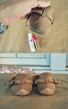 iLoveToCreate Blog: Glitter Shoe Fix