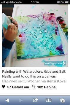 Wasserfarbe und kleber