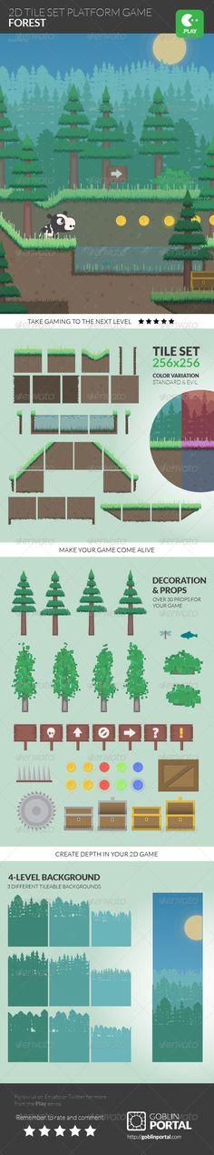 2D Tile Set Platform Game