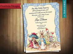 Peter Rabbit & Benjamin Bunny Baby Shower by pixieboladesigns, $15.00