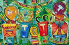 http://fineartamerica.com/featured/little-friends-evelyn-escobar.html Also you can contact the artist trough her Facebook page Evelyn Escobar