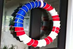 American Flag Cup Wreath - http://www.pbs.org/parents/crafts-for-kids/american-flag-cup-wreath/