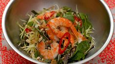 Green mango salad with tiger prawns | Luke Nguyen shares his recipe for possibly the most perfect salad. The green mango adds texture, freshness and tang while the prawns sing of summer. You could also use lobster or cooked, picked crab meat if you prefer.