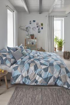 Beddinghouse Thoms - Dekbedovertrek - Lits-jumeaux - 240x200/220 cm - Blauw Grijs