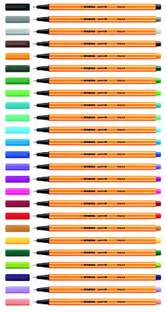 """Pp says, """"Stabilo pens, my one true love!<-have used all my life and just got my last set in Türkiye""""... Will have to check this out."""