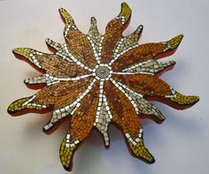 Flower Trivet Stained Glass Mosaic by earthmothermosaics on Etsy