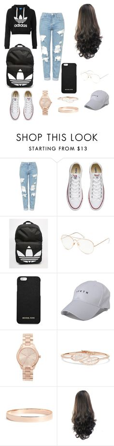 """Untitled #1"" by nanii29 ❤ liked on Polyvore featuring adidas Originals, Topshop, Converse, adidas, MICHAEL Michael Kors, Michael Kors, Anita Ko and Lana Jewelry"