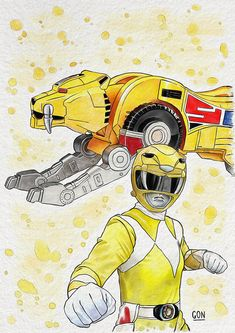 Yellow Ranger - Digital Painting - Fanart based on the television series Power Rangers - Tools used: Paint Tool Sai / Photoshop - Digital Art by Diego GoN / GoN_Illustrator Power Rangers Tattoo, Power Rangers Fan Art, Power Rangers Series, Mighty Morphin Power Rangers, Desenho Do Power Rangers, Powe Rangers, Green Ranger, Manga Artist, Picture Collection