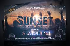 Sunset Party Flyer Template by Stormclub on @creativemarket