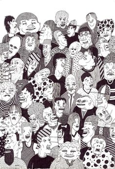 Image result for crowd drawings