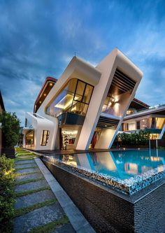 House Architecture Styles, Architecture Résidentielle, Futuristic Architecture, Modern Residential Architecture, Minimalist Architecture, Sustainable Architecture, Amazing Architecture, Modern Villa Design, Contemporary Design
