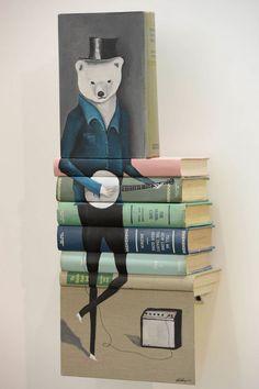 Mike Stilkey's Wonderfully Whimsical Book Paintings