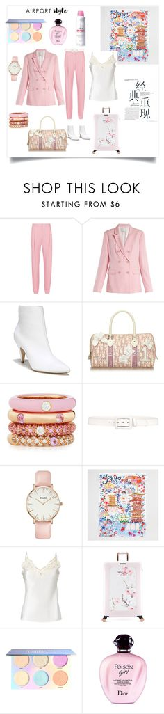"""""""Flying to Japan"""" by oliviabing on Polyvore featuring TIBI, Carlos by Carlos Santana, Christian Dior, Adolfo Courrier, Prada, CLUSE, La Perla, Ted Baker, Evian e vintage"""