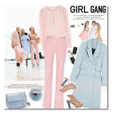 """""""Girl Gang"""" by junglover ❤ liked on Polyvore featuring Vision, Sigma Beauty, Matthew Williamson, See by Chloé, PALLAS, Rodarte, Valentino, Fendi, women's clothing and women"""
