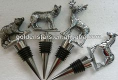 3D Silver Metal Animal Wine Bottle Stopper,Animal Bottle Stoppers, Silver Metal 3D Wine Stopper gifts  Made of Quality Zinc alloy metal +Silicone(FDA PAST) Food Safty Grade Past  Various of 3D Metal Live Animal Unique Designs  Keep your love Wine Fresh  Luxry gift box packing available  Perfect for gifts, homeware, bar accessories