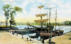 Kirkcudbright Harbour - 1905 where my family sailed from to Nova Scotia