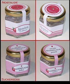 Kaufmannsladen & Küche - Marmelade o. Honig für Kaufmannsladen/Puppenküche - ein Designerstück von TanteEmmasWerkstatt bei DaWanda