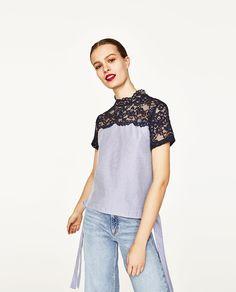 изображение 1 из БЛУЗА С БАНТОМ от Zara