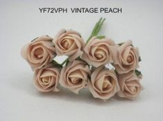 YF72VPH ROSEBUDS IN VINTAGE PEACH COLOURFAST FOAM 8 X 3 CM Vintage Colors, Vintage Flowers, Bunch Of Flowers, Rose Buds, Wedding Bouquets, Peach, Colours, Pretty, Wedding Brooch Bouquets
