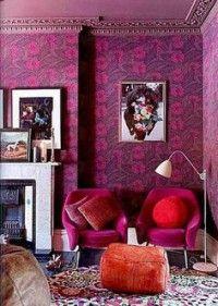 Pinke Wandfarbe ? Wie Können Sie Ihre Wände Kreativ Streichen ... Innendekoration Farbe Wnde