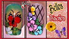 Nail Art Designs, Make It Yourself, Cami, Youtube, Work Nails, Polish Nails, Decorations, Purple Nails, White Nails