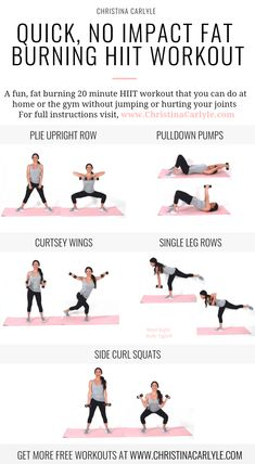 Low Impact HIIT Workout for women to burn fat and tone up fast christinacarlyle…. Low Impact HIIT Workout for women to burn fat and tone up fast christinacarlyle…. Weight Loss Tips, How To Lose Weight Fast, Weight Lifting, Reduce Weight, Weight Gain, Low Impact Hiit, Low Impact Fitness, Low Impact Exercise, 20 Minute Hiit Workout