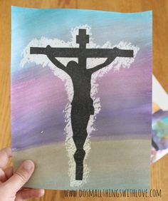 Easy Holy Week Watercolor Art - Do Small Things with Love Catholic Easter, Catholic Crafts, Easter Religious, Church Crafts, Catholic Art, Religious Art, Catholic Religion, Religious Education, Catholic School