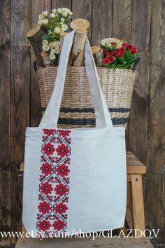 Ukrainian bag ukrainian souvenir embroidered tote bag canvas | Etsy Diy Bags Purses, Burlap Flowers, Embroidered Bag, Linen Bag, Fabric Bags, Cotton Bag, Canvas Tote Bags, Embroidery Stitches, Reusable Tote Bags