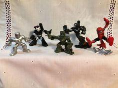 "5 Marvel, Hasbro Spider-Man Iron Man Super Hero Figures 2"" - 3.5""  Fun Toys #136 #mixedlot"