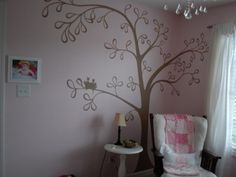 My inspiration for Lauren's white tree in teal room....