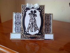 Wedding card made with Tattered Lace, Tonic and Spellbinders dies