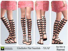 simromi's Gladiator Sandals Flat for YA/AF