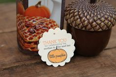 So stinking cute for baby showers! Thank You for Celebrating the Mother to Be by CaffeinatedSquirrel Baby Shower Tags, Baby Showers, Little Pumpkin, Shower Ideas, Party Ideas, Celebrities, Desserts, Crafts, Etsy