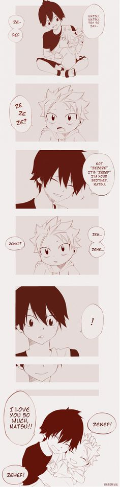 Zeref & Natsu-You're trying to make me cry aren't you? SO FUCKING CUTE!!!