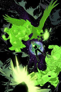 Green Lantern Powers, Green Lantern Comics, Dc Comics Characters, Dc Comics Art, Comic Books Art, Comic Art, Green Lantern Costume, Akuma No Mi, Kyle Rayner