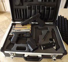 More custom gun case goodness with foam cutter