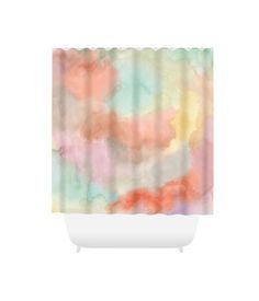 Shower Curtains Abstract Curtain Bath Mat Bathroom 34 Orange Green Pink Yellow A
