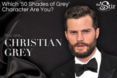 I took Quiz: Which '50 Shades of Grey' Character Are You?and got You're Christian Grey.. Take the quiz on The Stir to see what you get!   hahaha :D No! xdd