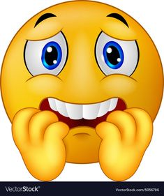Illustration about Illustration of Cartoon Scared emoticon smiley. Illustration of facial, shiny, scared - 46947803 Funny Emoji Faces, Emoticon Faces, Memes Funny Faces, Happy Emoticon, Smiley Emoji, Images Emoji, Emoji Pictures, Love Smiley, Emoji Love