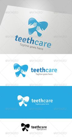 Teeth Care by LayerSky This logo design for all creative business. Consulting, Excellent logo,simple and unique concept. Logo Template FeaturesAI and EPS Dental Design, Dental Art, Id Design, Clinic Design, Logo Design, Graphic Design, Business Card Design, Creative Business, Severe Tooth Pain
