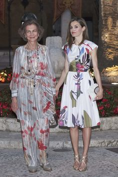 Queen Letizia and former queen Sofia