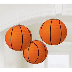 Check out Basketball 9 1/2 Paper Lantern Decorations (3 Pack) - Low Priced Individual Supplies from Wholesale Party Supplies