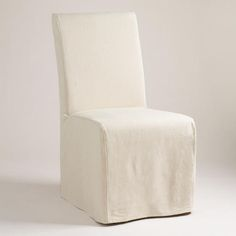 One of my favorite discoveries at WorldMarket.com: Linen Long Anna Chair Slipcover