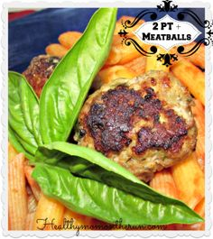 These 2 point plus meatballs might be a lighter version than your typical recipe, but they are packed with flavors the whole family can enjoy. I used fresh herbs from my garden to heighten the flavors.