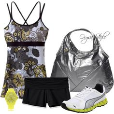 A fashion look from May 2012 featuring prAna tunics, Patagonia activewear shorts and Puma shoes. Browse and shop related looks.