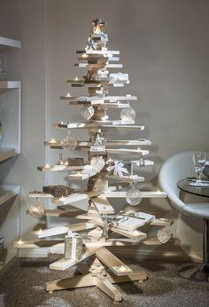 Wat zie je? Een kerstboom gemaakt van hout.  Waarom heb ik dit gekozen? -